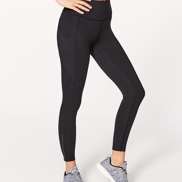 dc1b4dcdb67aff lululemon athletica Pants | Lululemon Fast Free 78 Black Leggings ...